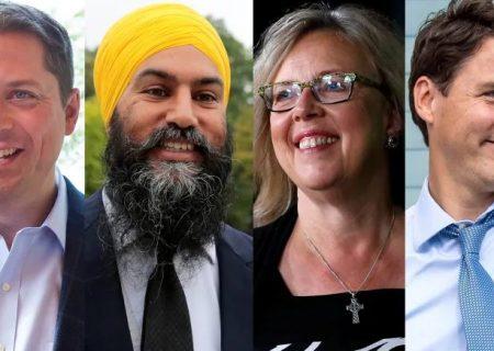 روز پایانی تبلیغات انتخاباتی رهبران احزاب در مترو ونکوور