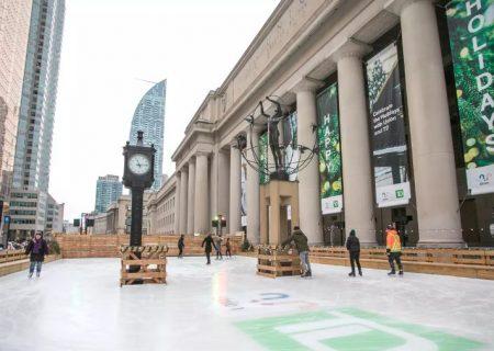 افتتاح بزرگترین زمین اسکیت روی یخ در تورنتو