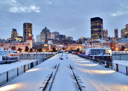 شب سال نو با ۲۵ سانتی متر برف در مونترال