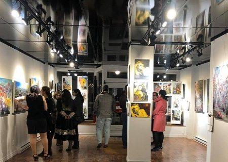 برگزاری نمایشگاه نقاشی منصوره اشرافی در مونترال