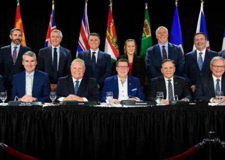 دیدار نخست وزیران استان های کانادا در تورنتو