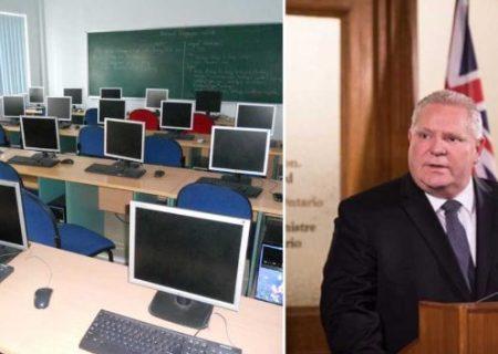 مخالفت با برنامه یادگیری الکترونیکی در مدارس