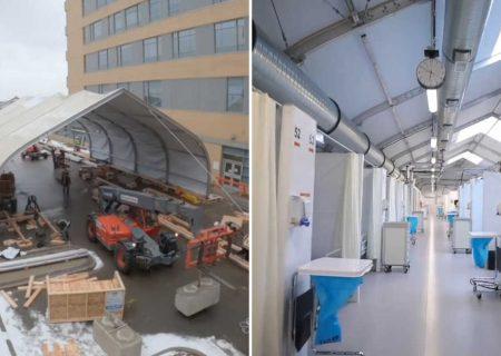 ساخت بیمارستان در کلگری تنها طی سه هفته!