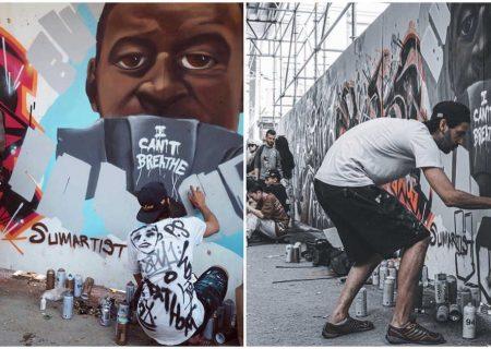 اعتراض کوچه گرافیتی تورنتو به نژادپرستی