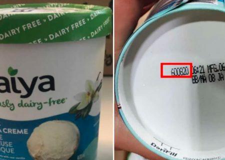 هشدار مصرف بستنیهای بدون لبنیات Daiya