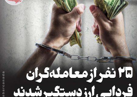 ۲۵ نفر از معاملهگران فردایی ارز دستگیر شدند