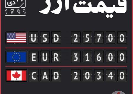 قیمت ارز ۱۱ دی