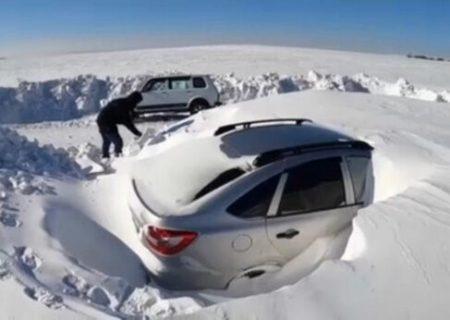 روسیه زیر برف مدفون شد