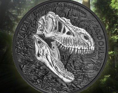 دایناسور ۸۰ میلیون سالی روی سکه کانادایی