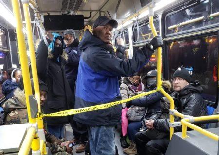 اتوبوسهای پرجمعیت در طول قرنطینه