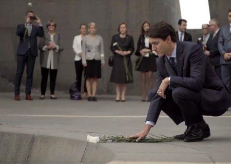 ادای احترام ترودو به قربانیان نسلکشی ارامنه
