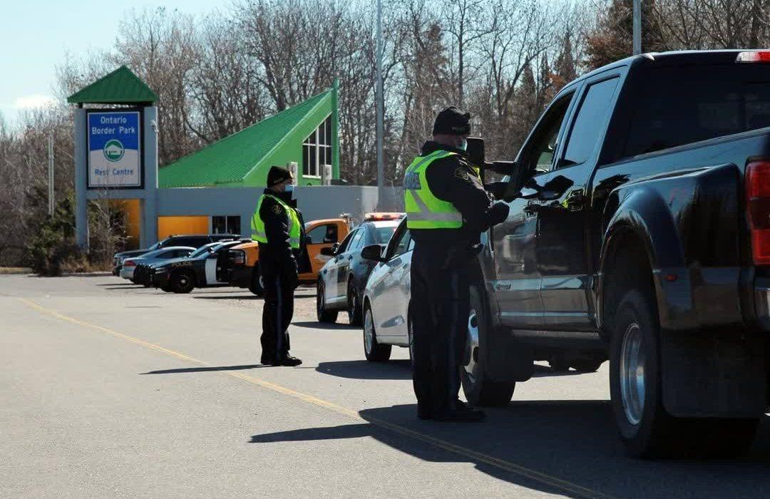 ترافیک شدید در مرز انتاریو و کبک