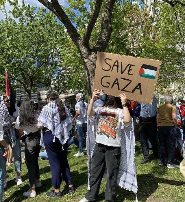 تظاهرات مونترالیها در حمایت از فلسطین