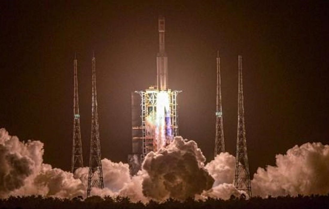 پرتاب فضاپیمای باری چین به فضا