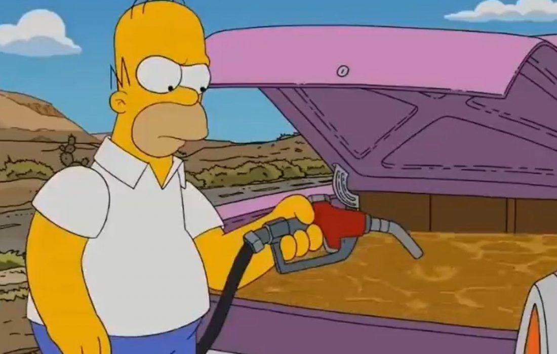 پیشبینی سیمپسونها از کمبود سوخت در آمریکا