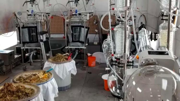 کشف آزمایشگاه مواد مخدر در بریتیش کلمبیا