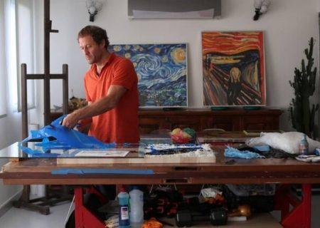 بازآفرینی نقاشیهای مشهور با پلاستیک بازیافتی