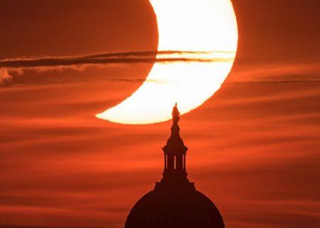تصویری از نخستین خورشیدگرفتگی امسال