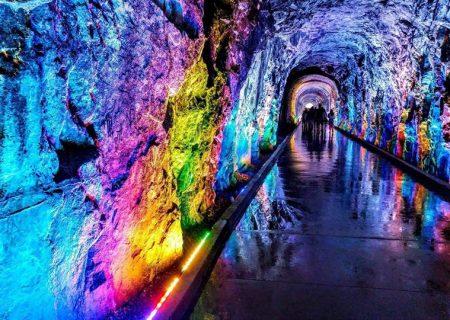 رقص نور و رنگ در تونل بروکویل