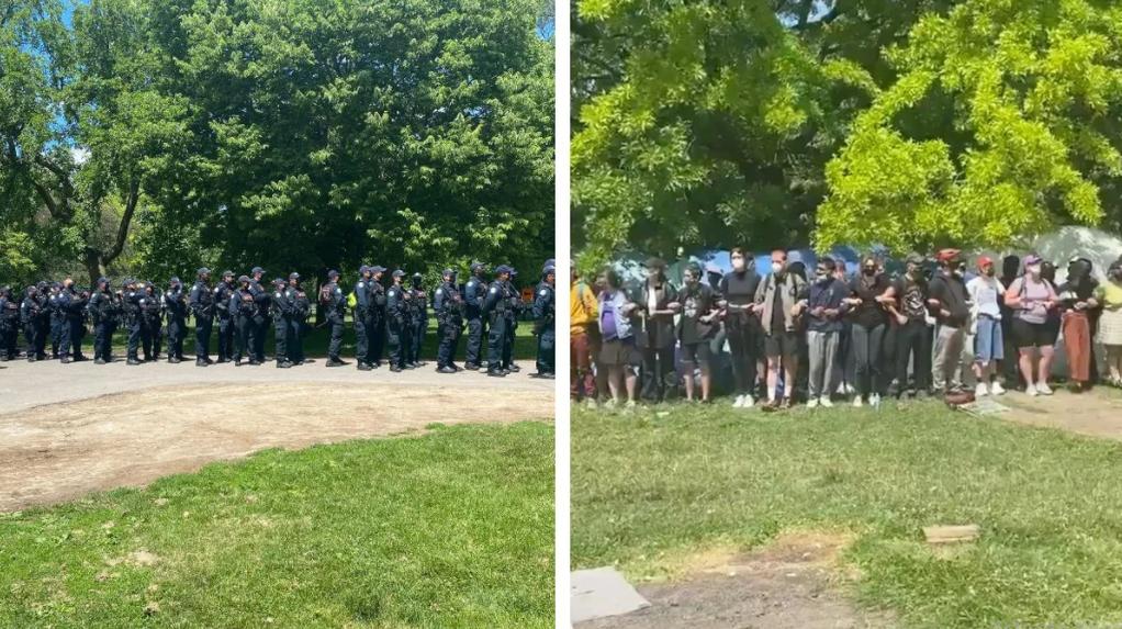 پلیس کمپ بیخانمانان تورنتو را برچید
