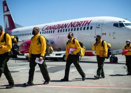 آتشنشانان مکزیک به کمک بریتیش کلمبیا آمدند
