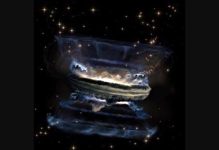 تصویری شگفتانگیز از سونامی ابرسیاهچاله