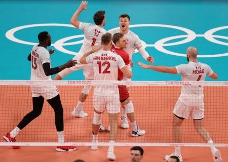 پیروزی تیم والیبال ایتالیا در مقابل کانادا