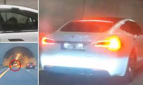 خودرو تسلا جان راننده مست را نجات داد