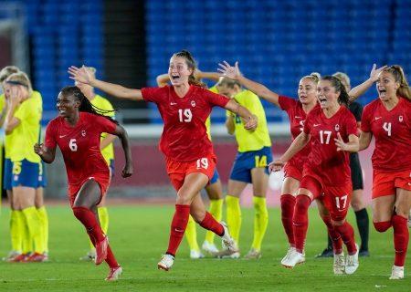 زنان فوتبالیست کانادایی قهرمان المپیک ۲۰۲۰ شدند