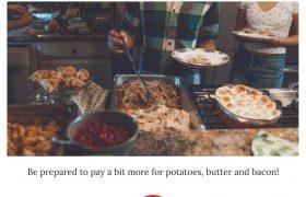 شام شکرگزاری امسال گران تمام میشود