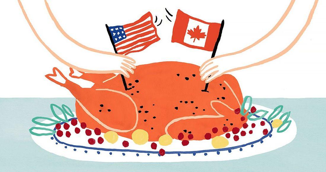 ۳ تفاوت جشن شکرگزاری کانادا با آمریکا